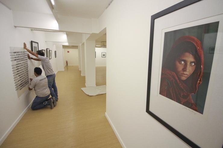 Imagem de Sharbat na parede do Museu da Fotografia (Foto: )