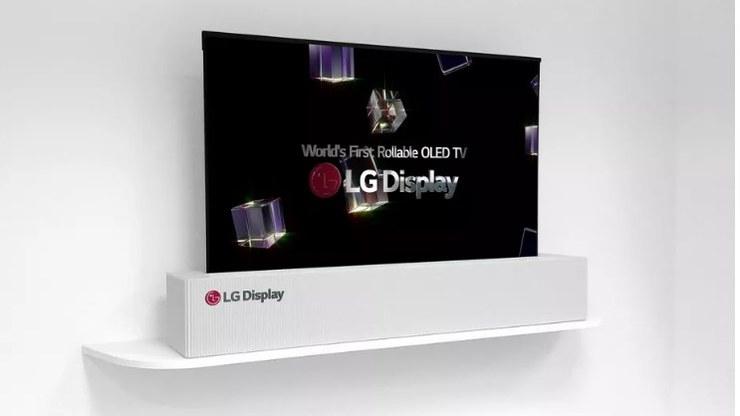 TV com painel OLED flexível da LG (Crédito:Divulgação/LG)