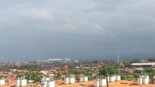 Foto da chuva na manhã deste sábado no bairro Jangurussu