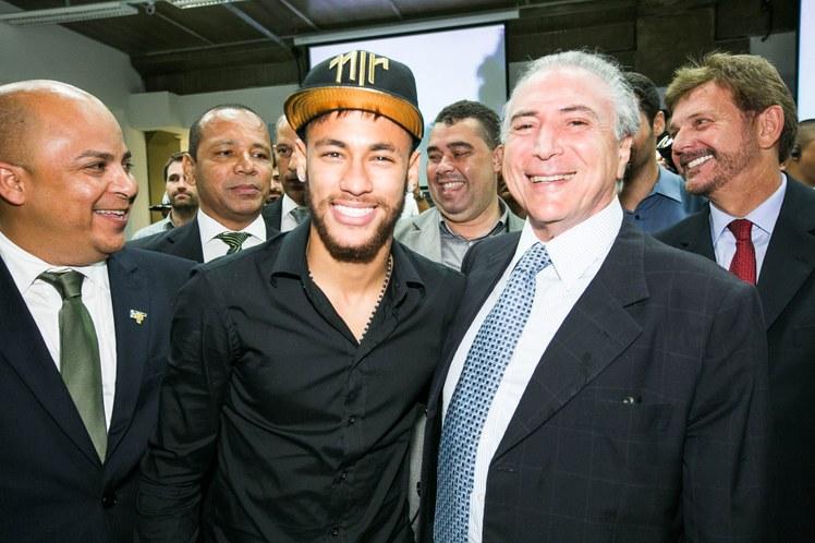 O presidente Michel Temer teria sido convidado de luxo de Neymar, segundo imprensa espanhola (Foto: Anderson Riedel/VPR)
