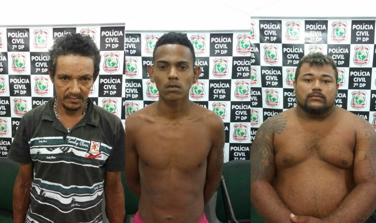 Antônio Honorato dos Santos, 42, Luiz Alexandre Alves Silva, 23, e Diego Alves Fernandes, 21
