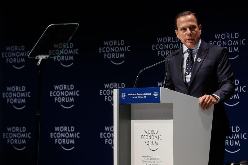 Doria na sessão de abertura do Fórum Econômico Mundial para a América Latina