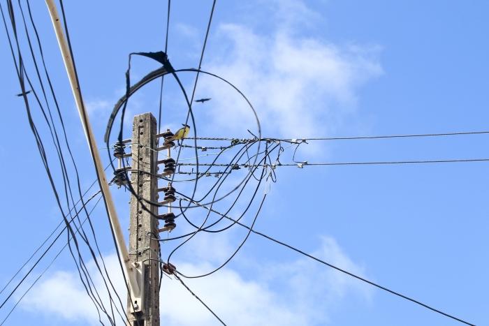 Fiação da rede elétrica