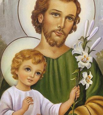 Imagem de São José com o Menino Jesus