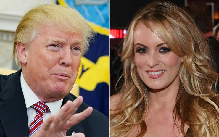 Donald Trump e atriz pornô que o acusa.