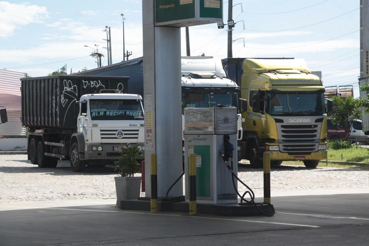 Posto de gasolina vazio