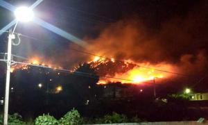 Serra de Itapipoca em chamas