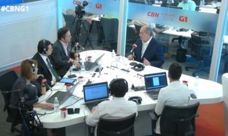 Ciro Gomes foi o entrevistado de hoje na sabatina CBN, transmitida pela Rádio O POVO CBN