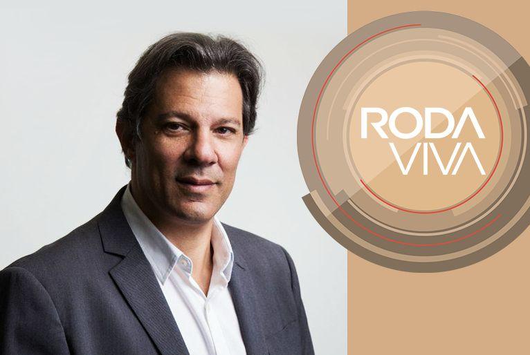 Fernando Haddad no programa Roda Viva, TV Cultura