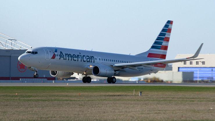 Avião da companhia American Airlines