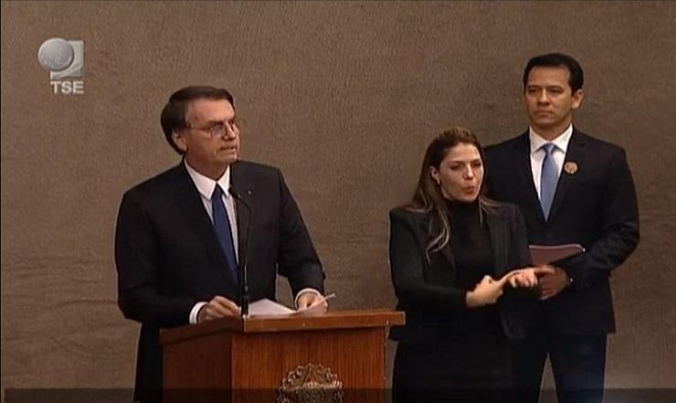 Jair Bolsonaro em sessão solene