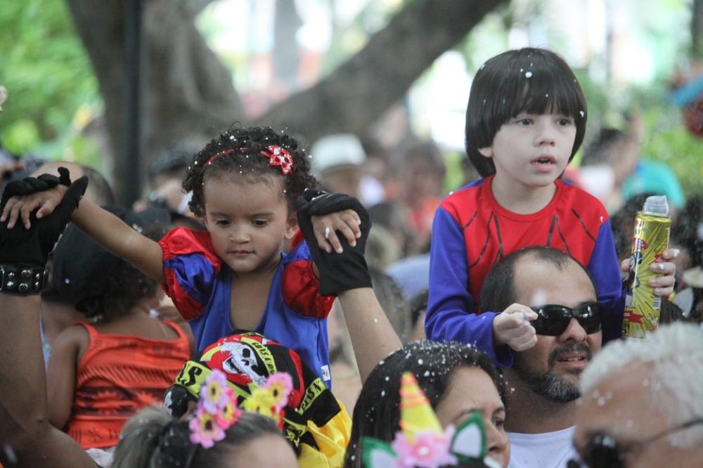 O Passeio Público é o principal polo infantil na programação de Carnaval da Prefeitura de Fortaleza.